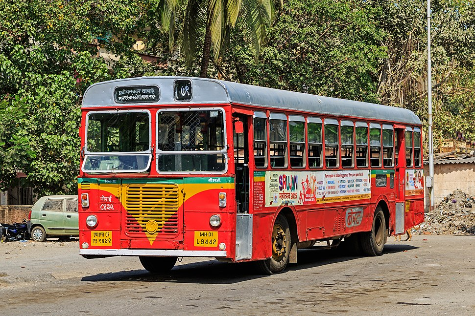 Mumbai 03-2016 48 bus in Mahim