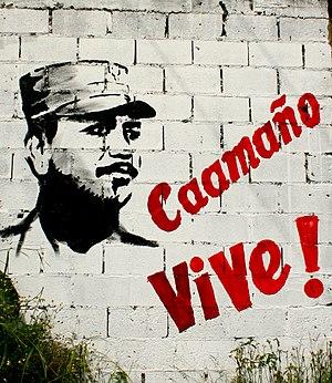English: Mural of Francisco Alberto Caamaño De...