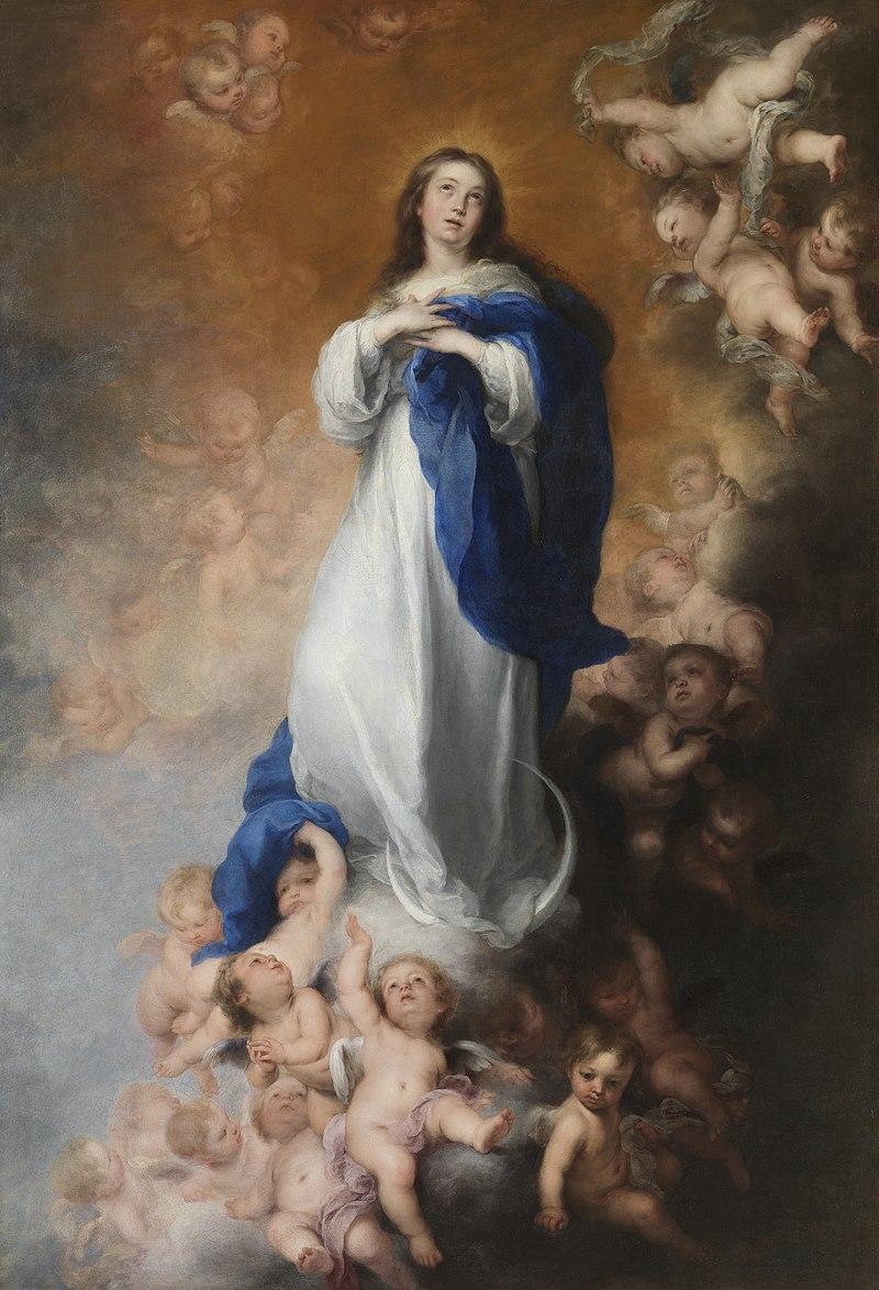 En la mayoría de las Inmaculadas de Bartolomé Esteban Murillo, dans immagini sacre 800px-Murillo_immaculate_conception