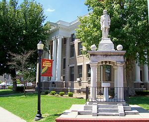Murray, Kentucky - Monument honoring the Confederate soldiers on the northeast corner of the Murray court square