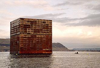 Murten - Monolith in Lake Morat for the Expo.02