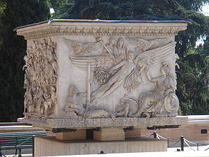 Victory column - The extant base of the Column of Antoninus Pius