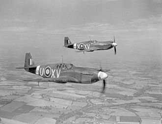 No. 2 Squadron RAF - Image: Mustang Is 2 Sqn RAF in flight c 1942