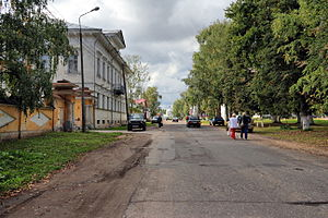 Myshkinsky District - A street in the town of Myshkin, the administrative center of the district