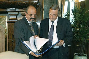 N%C3%A9stor Kirchner y Carlos Tomada-Buenos Aires-31 de marzo de 2004