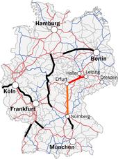 Neubaustrecke Erfurtleipzighalle Wikipedia