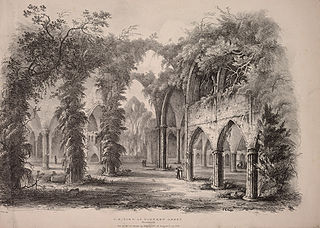 N. E. View of Tintern Abbey, Monmouth