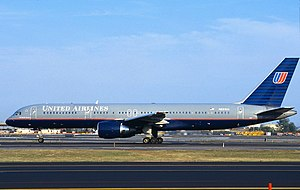 United Airlines Flight 93 - N591UA taxiing on September 8, 2001, three days before it was hijacked