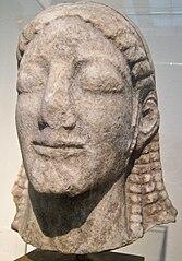 Kouros head