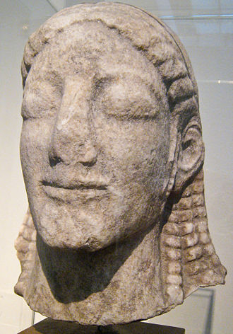 Ptoion - Head of a Kouros from the Temple of Apollo, National Archaeological Museum, Athens