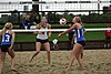 NCAA beach volleyball match at Stanford in 2016 (26448593106).jpg