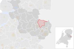 Locatie van de gemeente Tubbergen (gemeentegrenzen CBS 2016)