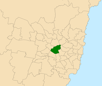 Electoral district of Auburn - Location within Sydney