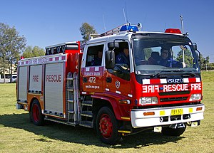 Fire department - A Fire and Rescue NSW truck in 2008.