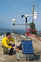 NWS IMET taking observations in the field