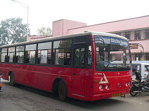 Nagpur district - Public transport bus in Nagpur