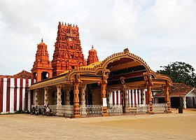 Entrance to the Nallur Kandaswamy Kovil in Jaffna, Sri Lanka.