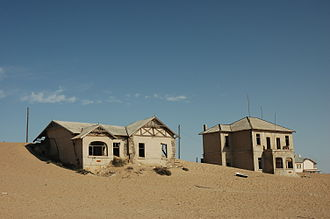 Human settlement - Abandoned buildings in Kolmanskop, Namibia