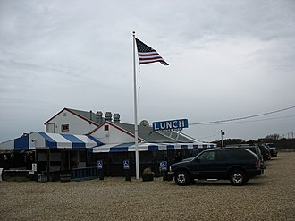 Napeague, New York - Lunch at the Lobster Roll restaurant in Napeague
