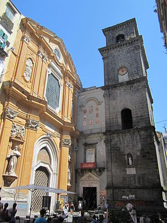 San Lorenzo Maggiore, Naples - Façade of San Lorenzo Maggiore.