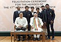 Narendra Modi with the medal winners of the 17th Asian Games, Incheon 2014, in New Delhi. The Minister of State for Skill Development, Entrepreneurship, Youth Affairs and Sports (Independent Charge) (1).jpg