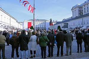 National Independence Day (Poland) - People gathered in front of the Presidential Palace in Warsaw to celebrate National Independence Day (2013)
