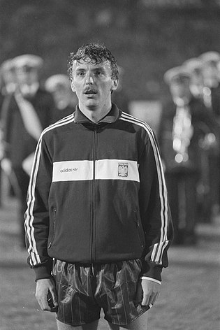 Zbigniew Boniek, top scorer for Poland in the 1982 World Cup. Nederland tegen Polen 0-0 in Olympisch Stadion in Amsterdam Lazarek, nr. 11, 12, Bestanddeelnr 933-8193.jpg