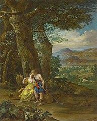 Landscape with shepherd couple