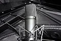 Neumann U87 Condenser Microphone on the piano - Studio A, In Your Ear Studios.jpg