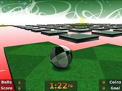 One of the hard levels being played in Neverball 1.4.0