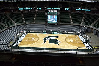 Breslin Student Events Center - Breslin Center's new court as of 2016.