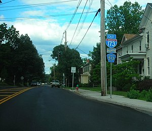 "A residential street labeled as ""Interstate 173"""