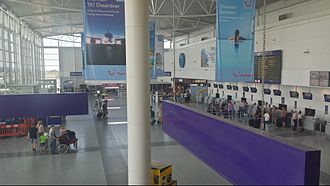 Newcastle Airport - Main hall