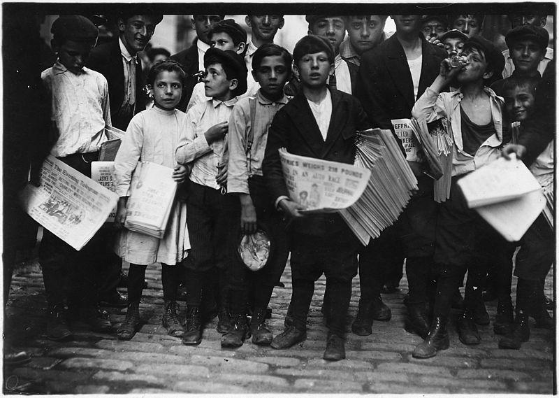 En la protesta total, habían más de 5 mil Newsies, de edades entre los 5 y los 15 años.