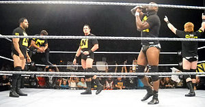 The Nexus (professional wrestling) - The Nexus after exiling Darren Young for losing to John Cena on the August 16, 2010 episode of Raw and losing Skip Sheffield to injury at a live WWE event in Hawaii