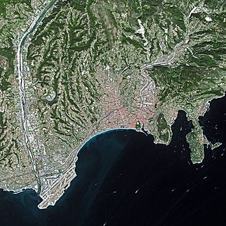 Nice - Nice seen from Spot Satellite