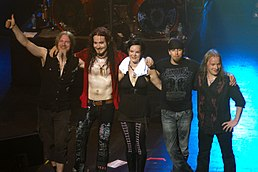 A banda Nightwish no concerto em Melbourne.
