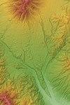 Nirasaki Debris Avalanche Deposits Relief Map, SRTM-1.jpg
