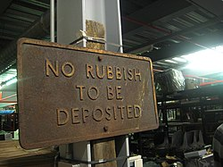 No Rubbish - Museum Depot - London Transport Museum Open Weekend March 2012 (6825114764).jpg