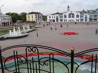Noginsk - Central square in Noginsk