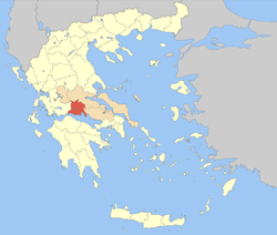 Phocis within Greece