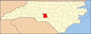 Emery, North Carolina - Image: North Carolina Map Highlighting Montgomery County