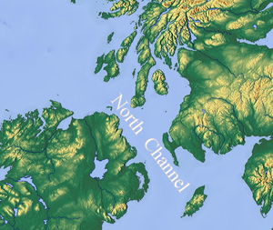 North Channel (Great Britain and Ireland) - Map of the North Channel