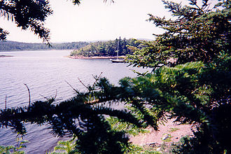 Kennebecasis Island - A view of a sailboat in the north cove of Kennebecasis Island