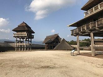 Kanzaki, Saga - Panoramic view of Yoshinogari Ancient Ruin, where discopvered in 1989