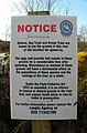 Notice, Deele River - geograph.org.uk - 1771432.jpg