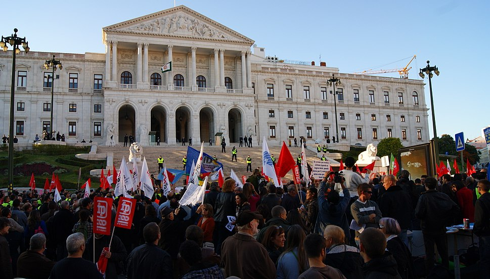 November 2011 Austerity Protest in Lisbon, Portugal