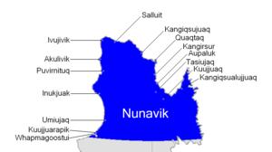Nunavik - Villages in Nunavik.
