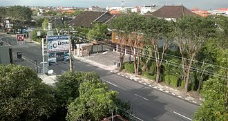Nyepi - A deserted street at Nyepi.