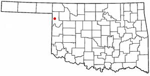 Shattuck, Oklahoma - Image: OK Map doton Shattuck